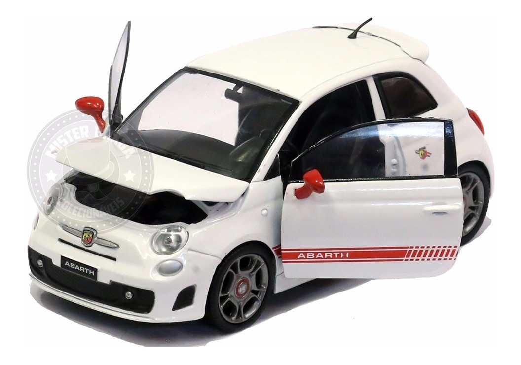 Fiat 500 Abarth, white/red, 2008