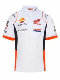 POLO WHITE REPSOL TEAMWEAR 2019