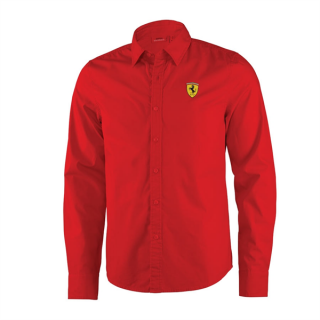 MAN LONG SLEEVE SHIRT RED - PÁNSKÁ KOŠILE SCUDERIA FERRARI