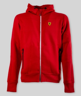 MENS TRICOLORE HOODY RED
