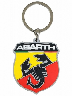 Soft Touch Abarth Shield Key Ring