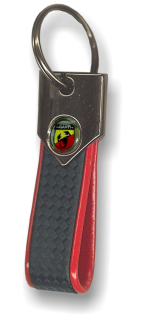 Key Ring Abarth Carbon Red
