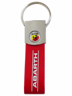 Red Abarth Band Key Ring