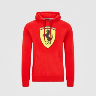 MENS HOODED SWEAT RED - MIKINA FERRARI S KAPUCÍ