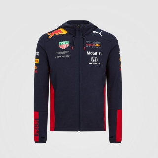 RED BULL RACING 2020 KID TEAM HOODED SWEAT JACKET - DĚTSKÁ TÝMOVÁ MIKINA RED BULL F1