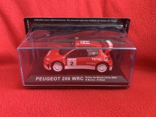 Model  Auto Peugeot 206 WRC Rally Monte Carlo 2003 R.Burns 1/43