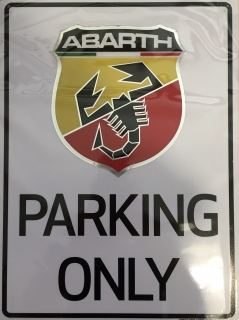 Abarth cedule PARKING ONLY