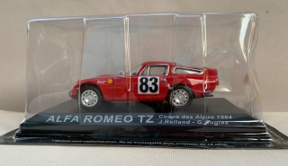 Model Auto Alfa Romeo TZ Rally Coupes des Alpes 1964