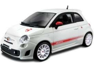 Model Fiat Abarth Esseesse 2009 - bílá kola 1:24