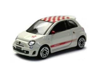 Model Fiat Abarth 500 white/red 1:43