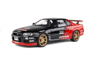 Model Nissan Skyline GT-R 34 1999 Advan Drift Solido 1:18