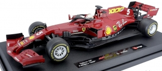 Model Scuderia Ferrari BBurago #5 Vettel Toscana GP 1000TH 2020 1:18