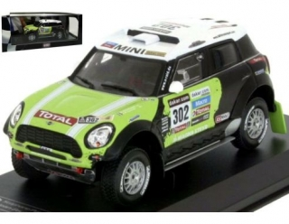 Mini All4 Racing 2013 #302 S.Peterhansel/JP.Cottret Dakar Rally 1:43