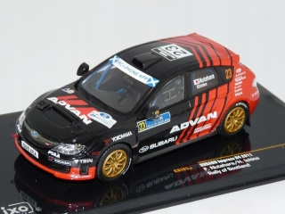 Model  Subaru Impreza R4 #23 Rally of Scotland 2011 F.Nutahara/H. Ichino, black/red 1:43