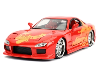 Model Rychle a zběsile II Mazda RX-7 red/yellow 1:24