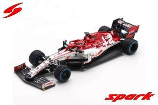 Model SPARK Alfa Romeo F1 C39 Turkish GP Sauber 500th race 2020 Raikkonen 1/43 + pitboard