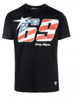 Nicky Hayden tričko 69 BLACK