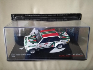 Model FIAT - 131 ABARTH ALITALIA N 1 RALLY 1000 LAKES 1979 M.ALEN - I.KIVIMAKI