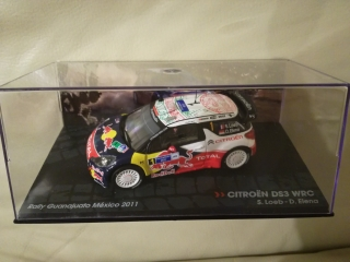 Citroen DS3 WRC Red Bull S. Loeb Winner Rally Mexico 2011 1/43